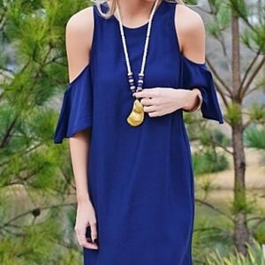Navy Cold Shoulder Dress. $25 $53. Size M · The Blue Door Boutique & The Blue Door Boutique | Poshmark